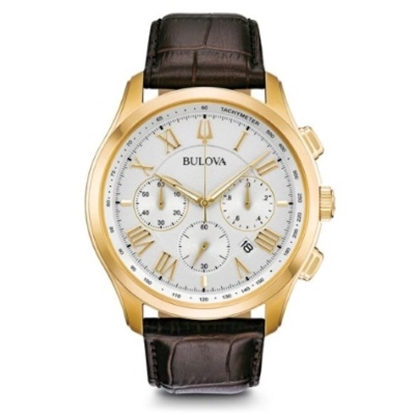 Picture of Bulova Men's Classic New Wilton Brown Leather Strap Watch