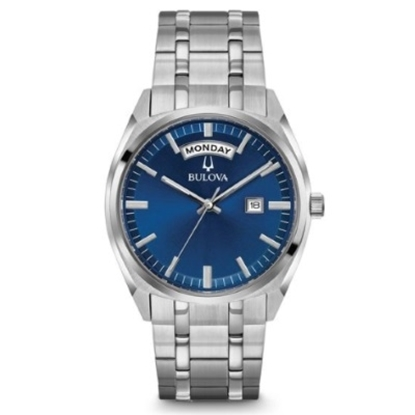 Picture of Bulova Men's Classic Stainless Steel Blue Dial Watch