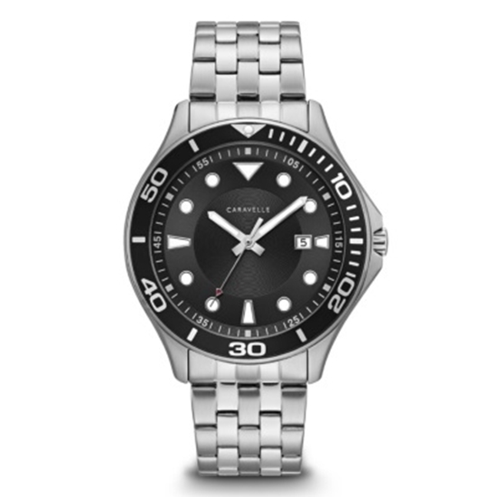 Picture of Bulova Caravelle NY Men's Stainless Steel Black Dial Watch