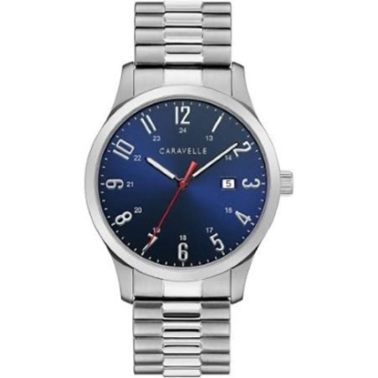 Picture of Bulova Caravelle NY Men's Stainless Steel Blue Dial Watch
