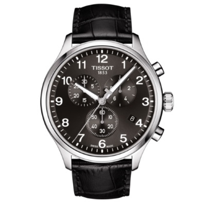Picture of Tissot Chrono XL Classic Watch with Black Leather Strap