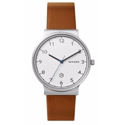 Picture of Skagen Men's Ancher Brown Leather Watch