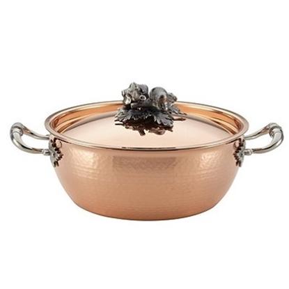 Picture of Ruffoni Opus Cupra 4.25-Quart Covered Round Copper Casserole