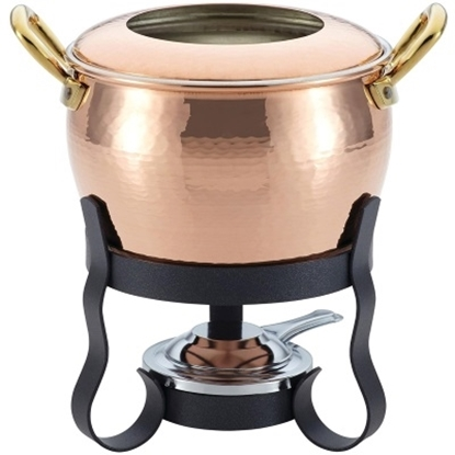 Picture of Ruffoni Historia Décor 4-Piece Fondue Michelle Set - Copper