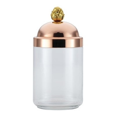 Picture of Ruffoni Barattoli 1-Quart Glass Kitchen Jar with Copper Lid
