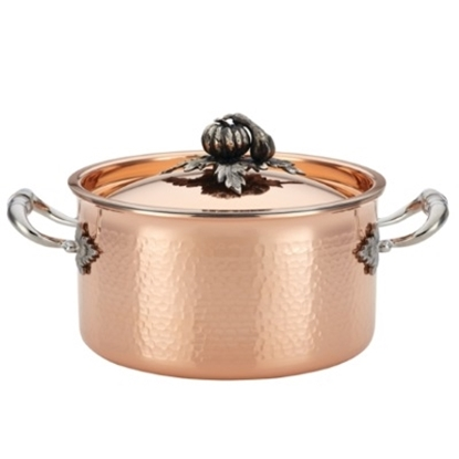 Picture of Ruffoni Opus Cupra 3.75-Quart Covered Soup Pot - Copper