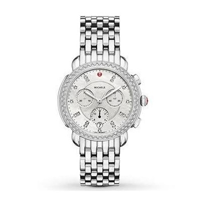 Picture of Michele Sidney Diamond Watch with Diamond Dial