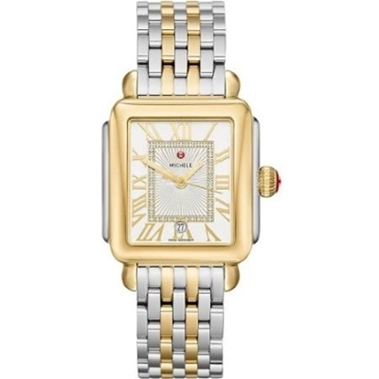 Picture of Michele Deco Madison Two-Tone Watch with Diamond Dial