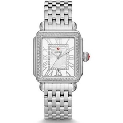 Picture of Michele Deco Madison Stainless Steel Diamond Watch