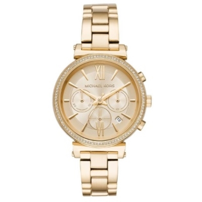 Picture of Michael Kors Sofie Pave Gold-Tone Stainless Steel Watch