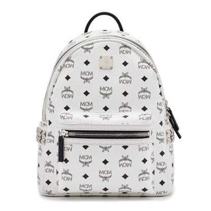 Picture of MCM Stark Small Side Stud Backpack - White