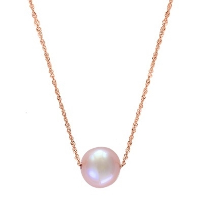 Picture of Lali 14K Rose Gold Pink Fresh Water Pearl 18'' Necklace