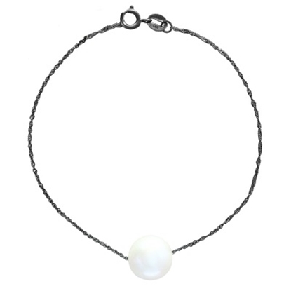 Picture of Lali 14K White Gold Single White Fresh Water Pearl Bracelet