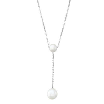 Picture of Lali Sterling Silver White Fresh Water Pearl Necklace