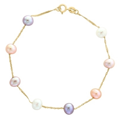 Picture of Lali 14K Yellow Gold Multicolor Fresh Water Pearl Bracelet