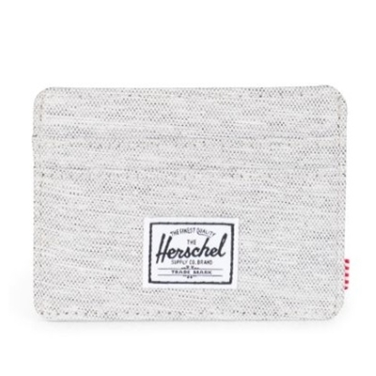Picture of Herschel Charlie Wallet - Light Grey Crosshatch