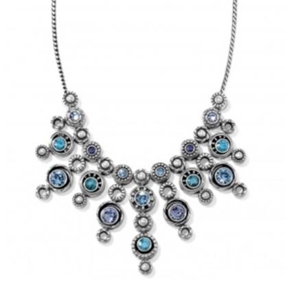 Picture of Brighton Halo Burst Collar Necklace - Silver/Tanzanite