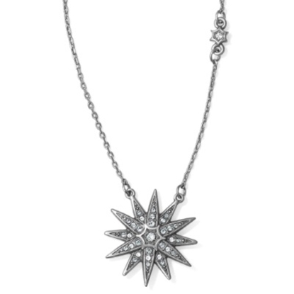 Picture of Brighton Contempo Starburst Short Necklace - Silver