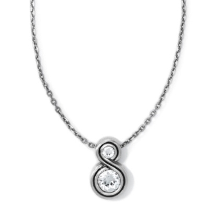 Picture of Brighton Infinity Sparkle Petite Necklace - Silver