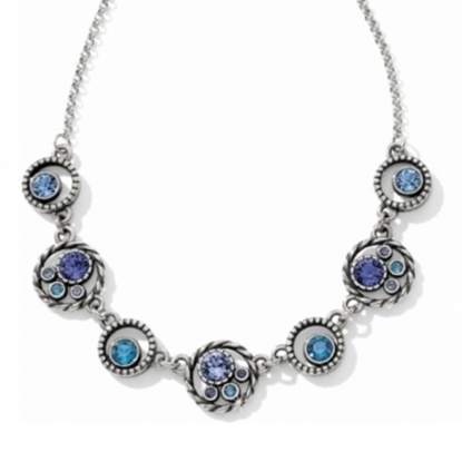 Picture of Brighton Halo Collar Necklace - Silver/Tanzanite