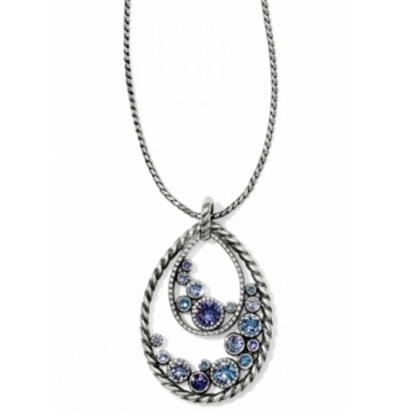 Picture of Brighton Halo Convertible Long Necklace-Silver/Tanzanite