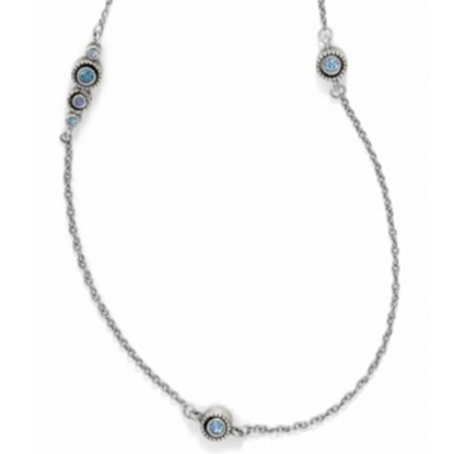 Picture of Brighton Halo Long Necklace - Silver/Tanzanite
