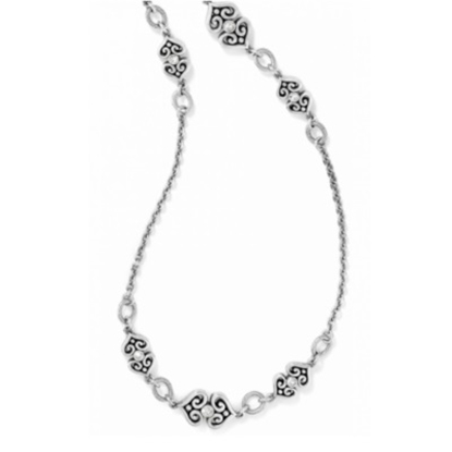 Picture of Brighton Alcazar Heart Long Necklace - Silver