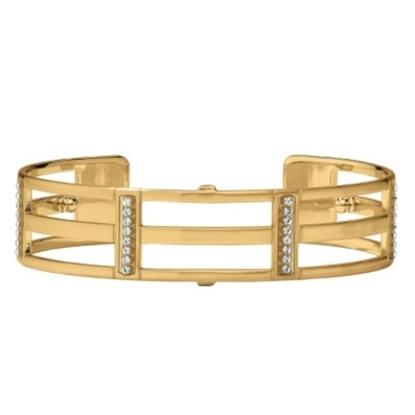 Picture of Brighton Christo Rhone Slim Cuff Bracelet - Gold