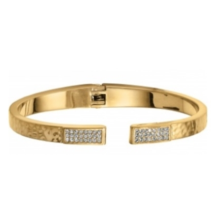 Picture of Brighton Meridian Zenith Hinged Bangle - Gold