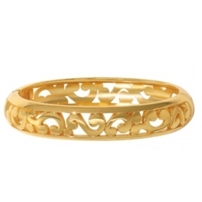 Picture of Brighton Contempo Medium Hinged Bangle - Gold