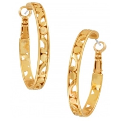 Picture of Brighton Contempo Medium Hoop Earrings - Gold