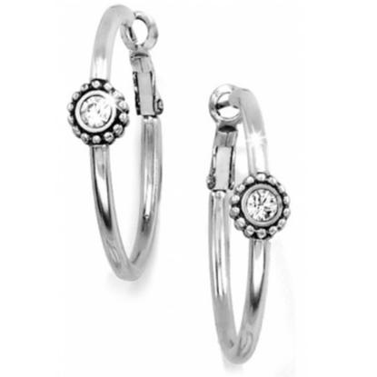 Picture of Brighton Twinkle Medium Hoop Post Earrings -Silver