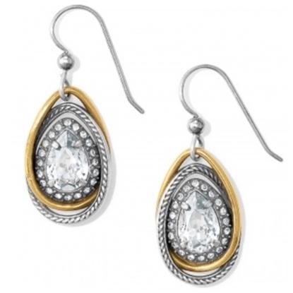 Picture of Brighton Neptune's Rings Gem Teardrop Earrings - Silver/Gold