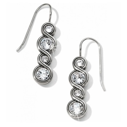 Picture of Brighton Infinity Sparkle French Wire Earrings - Silver