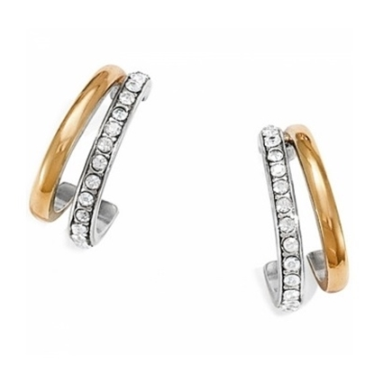 Picture of Brighton Neptune's Rings Post Hoop Earrings - Silver/Gold