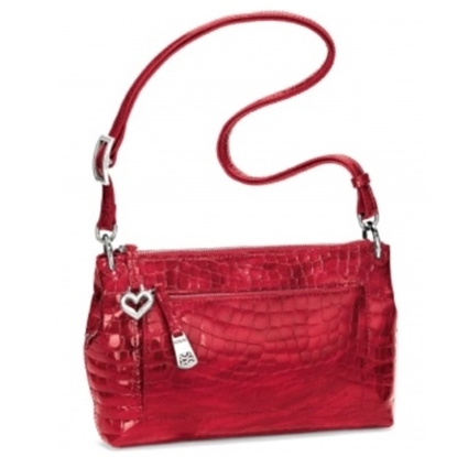 Picture of Brighton Bria Messenger - Lipstick Croco