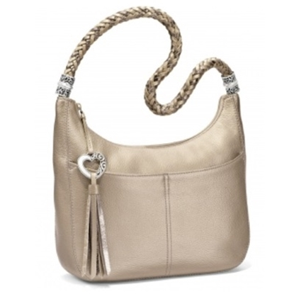 Picture of Brighton Barbados Ziptop Hobo - Zinc Pearl
