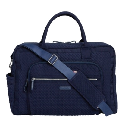 Picture of Vera Bradley Iconic Weekender Travel Bag - Classic Navy