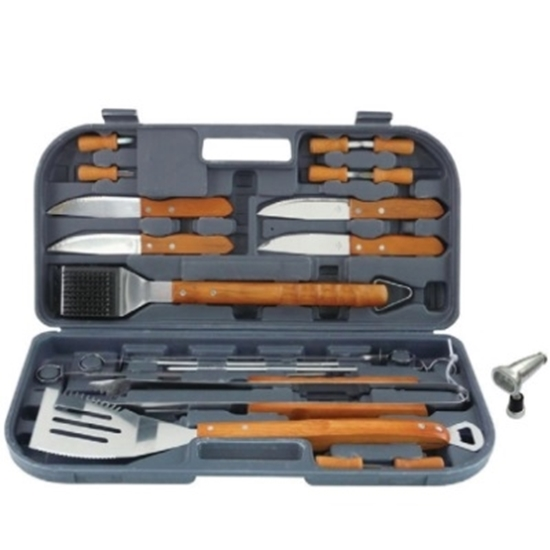 Picture of Mr. Bar-B-Q 20-Piece Tool Set with Magnetic LED Grill Light
