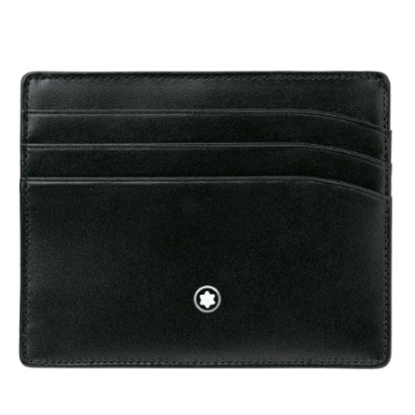 Picture of Montblanc Meisterstück 6-Card Leather Pocket Holder - Black