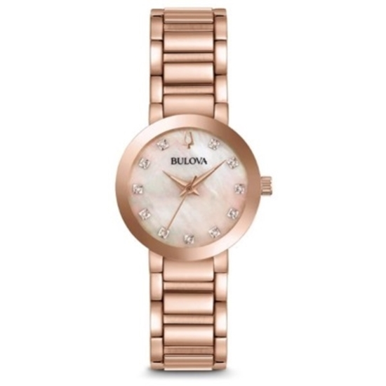 Picture of Bulova Modern Diamond-Accent Rose Gold-Tone Watch