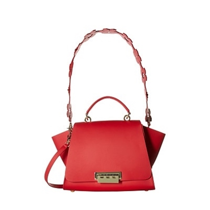 Picture of Zac Posen Eartha Iconic Soft Top with Floral Strap - Red