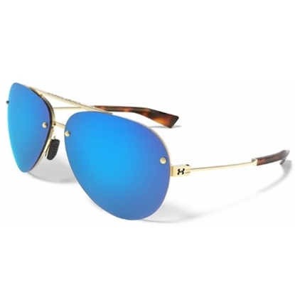 Picture of Under Armour Double Down Sunglasses - Gold/Blue Multiflection