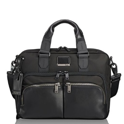 Picture of Tumi Alpha Bravo Albany Slim Commuter Brief - Black