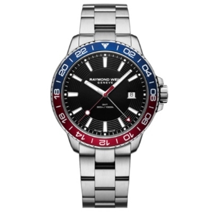 Picture of Raymond Weil Tango Diver Watch w/ Black Dial & Red/Blue Bezel