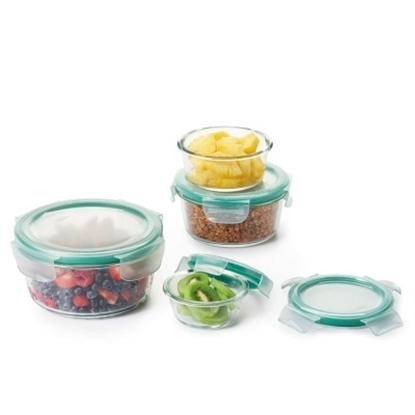 Picture of OXO 8-Piece Smart Seal Glass Round Container Set