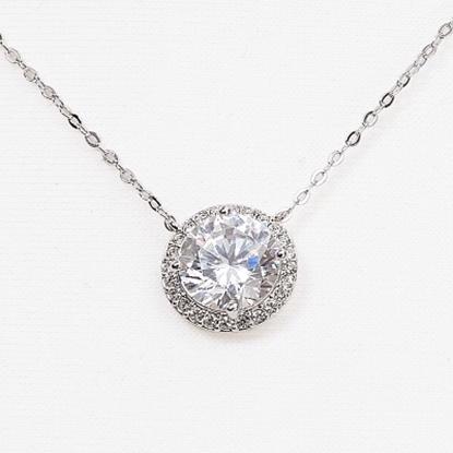 Picture of Nadri Cubic Zirconia Round Pendant Necklace