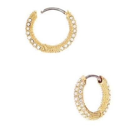 Picture of Nadri Pave Hoop Earrings