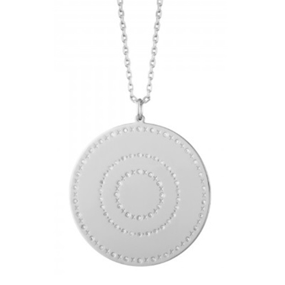 Picture of Lulu DK XOXO Pendant - Rhodium Plated