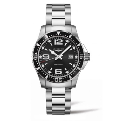 Picture of Longines HydroConquest Quartz Watch with Black Dial